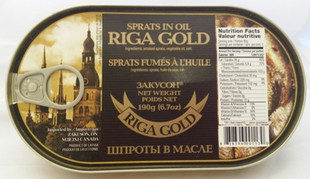"""Picture of  Sprats """"Riga Gold"""" 190g"""